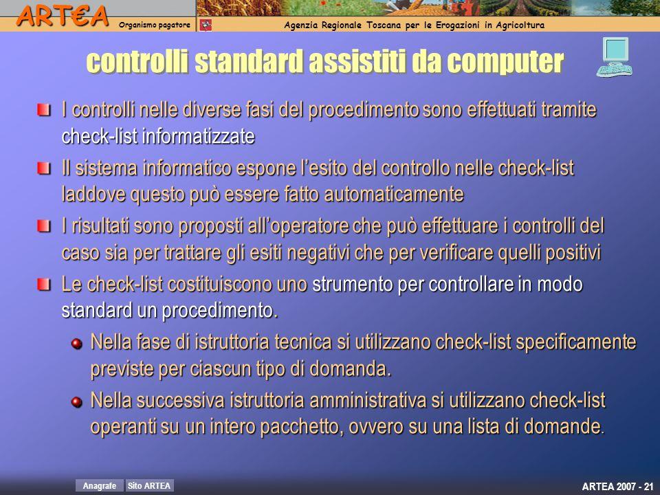 controlli standard assistiti da computer