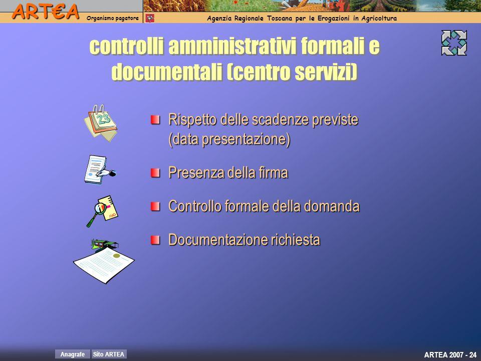 controlli amministrativi formali e documentali (centro servizi)