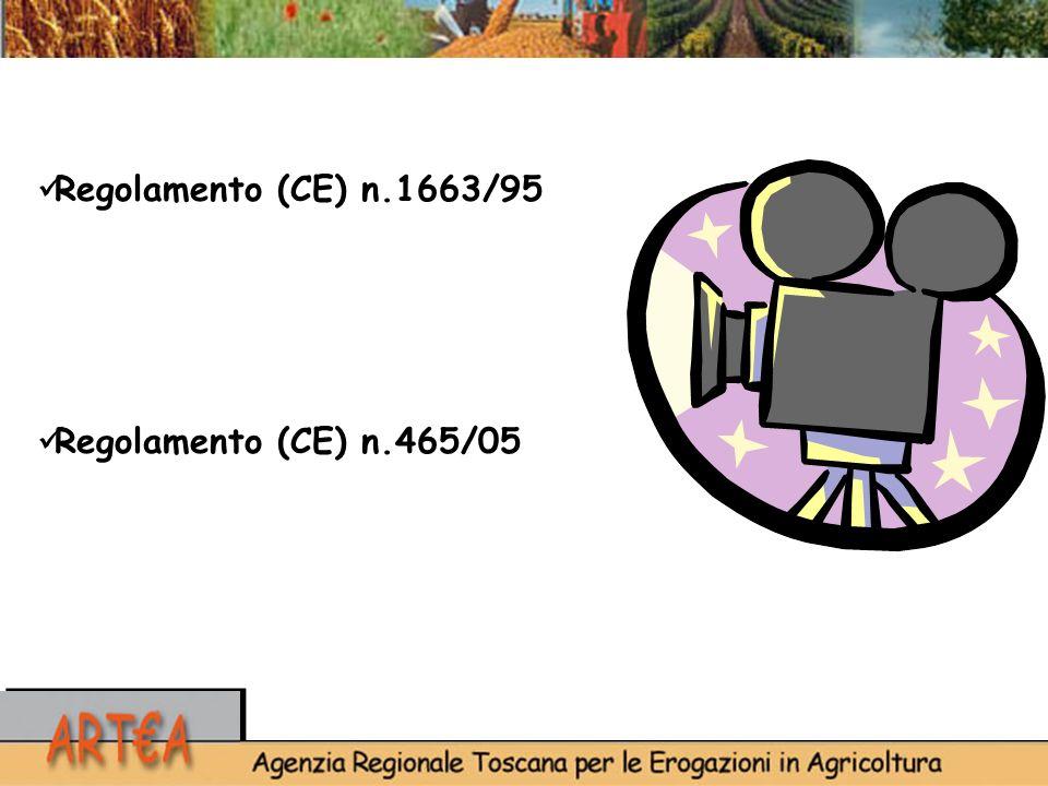 Regolamento (CE) n.1663/95 Regolamento (CE) n.465/05