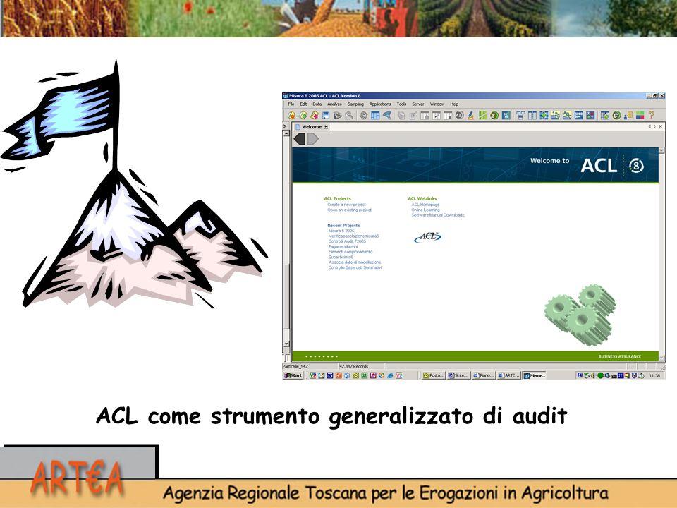 ACL come strumento generalizzato di audit