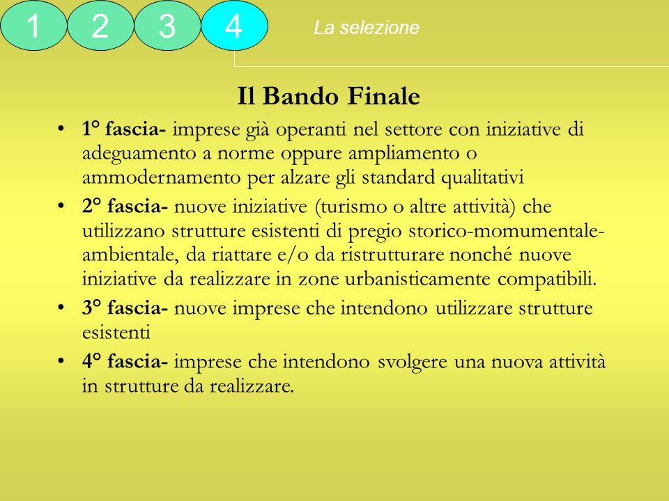 La selezione 1. 2. 3. 4. Il Bando Finale.