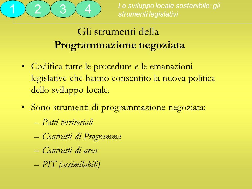 Gli strumenti della Programmazione negoziata