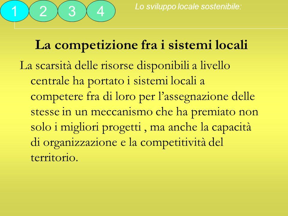 La competizione fra i sistemi locali