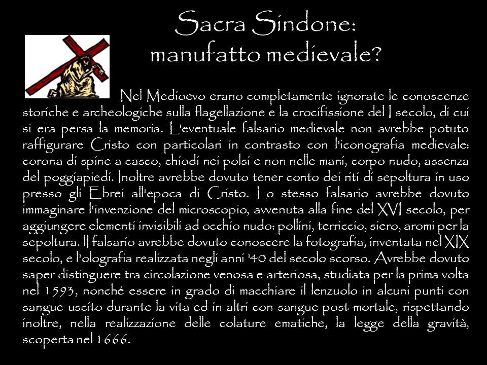 Sacra Sindone: manufatto medievale