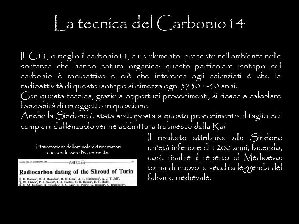 La tecnica del Carbonio14