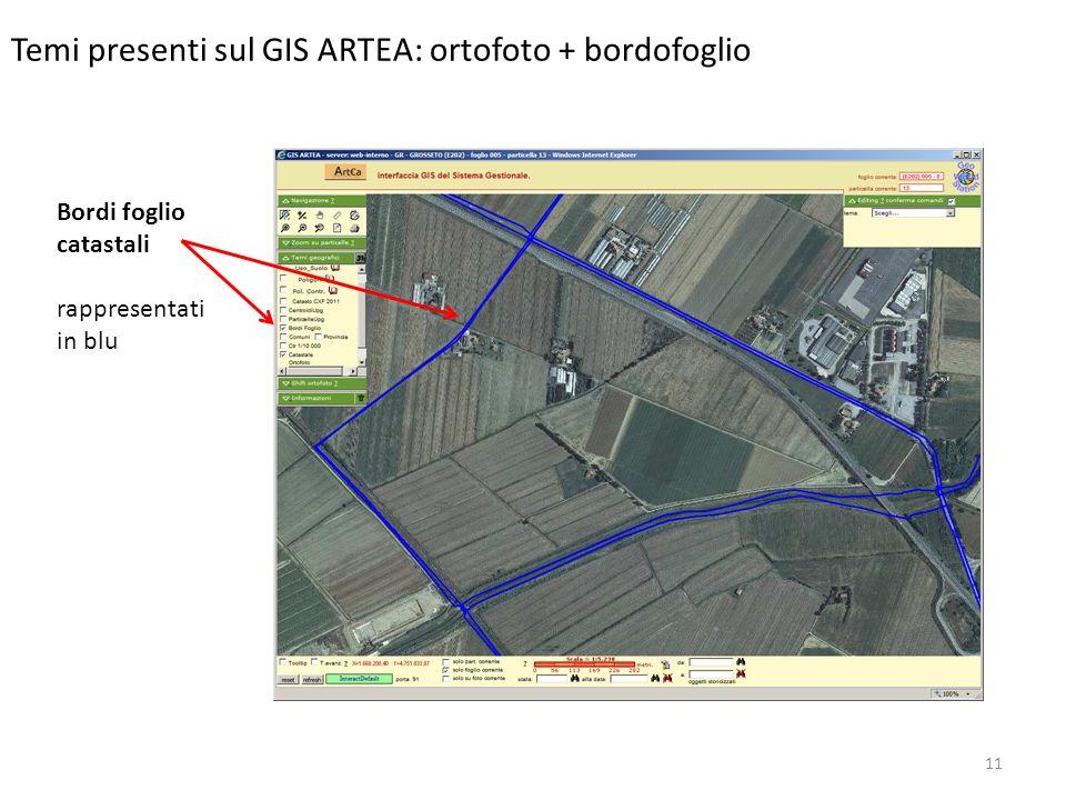 Temi presenti sul GIS ARTEA: ortofoto + bordofoglio