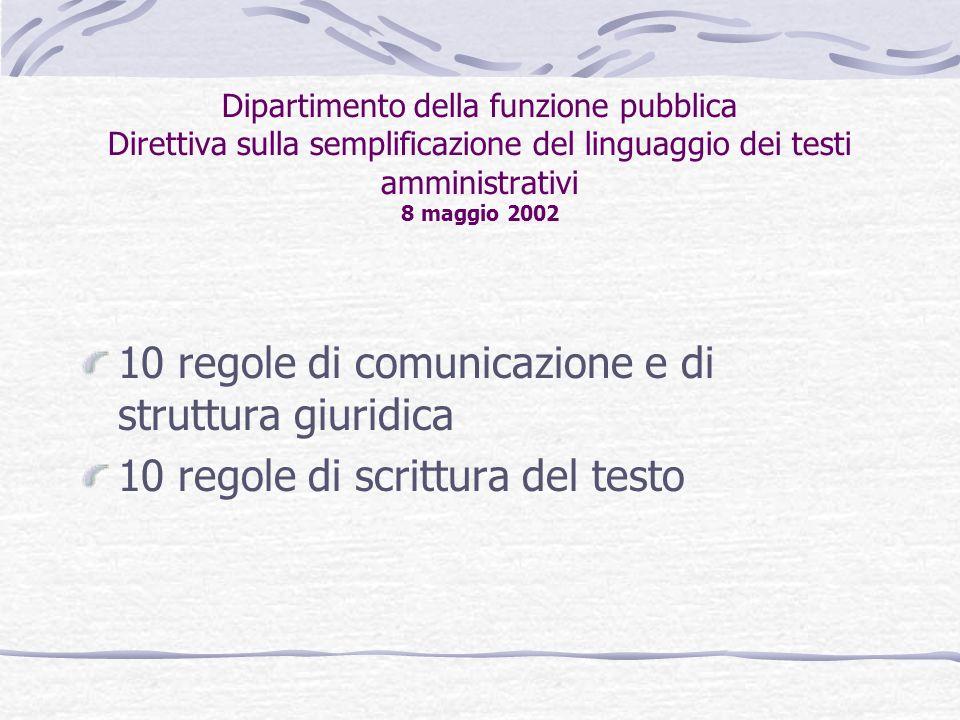 10 regole di comunicazione e di struttura giuridica