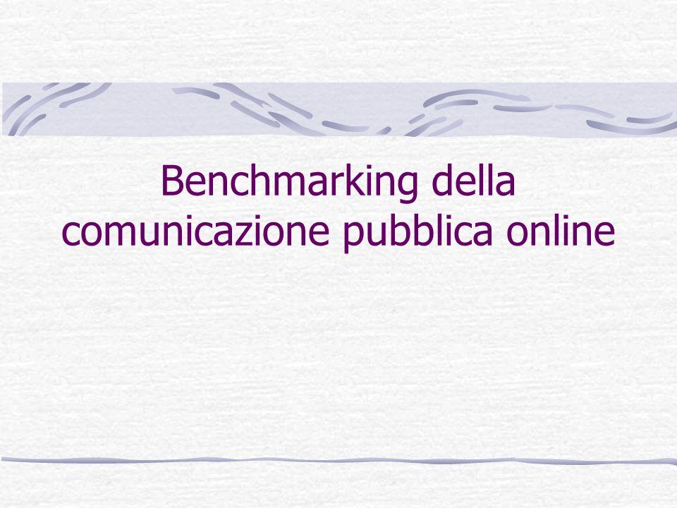 Benchmarking della comunicazione pubblica online