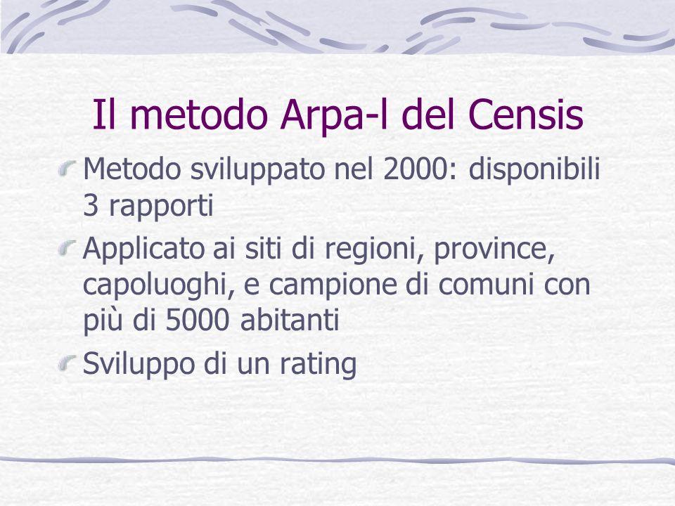 Il metodo Arpa-l del Censis