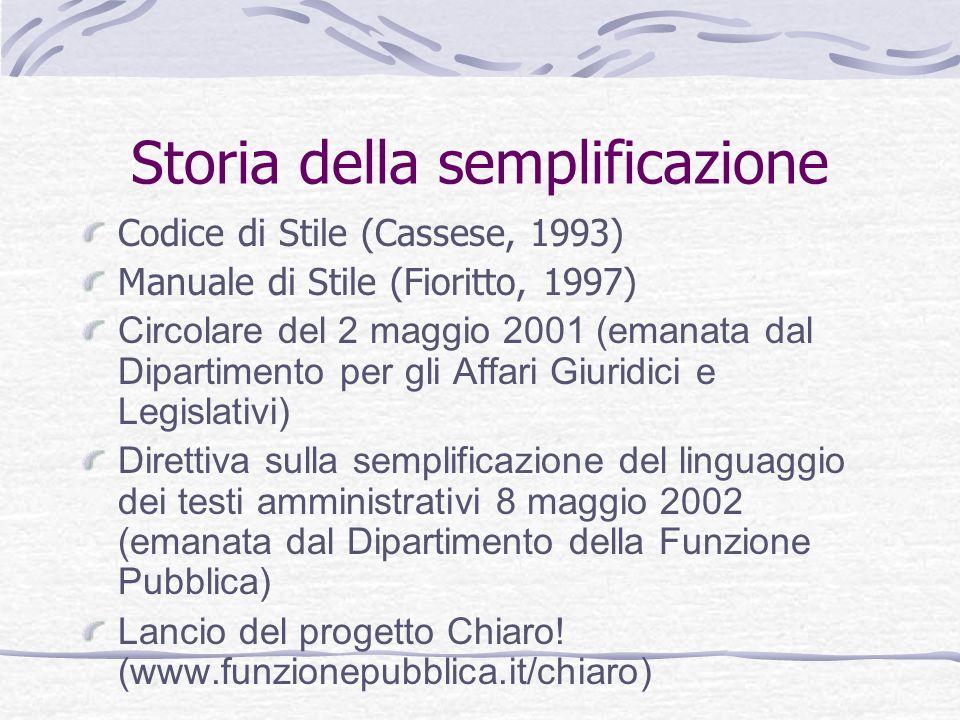 Storia della semplificazione
