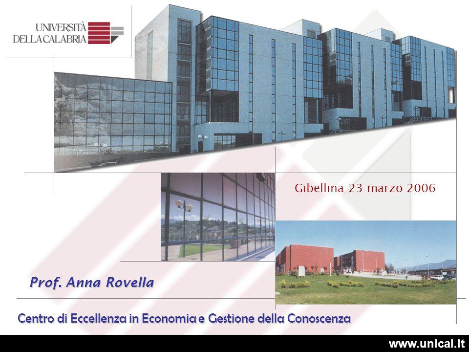 Centro di Eccellenza in Economia e Gestione della Conoscenza