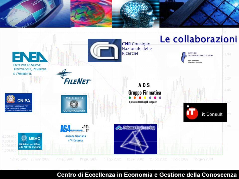Le collaborazioni CNR Consiglio Nazionale delle Ricerche.