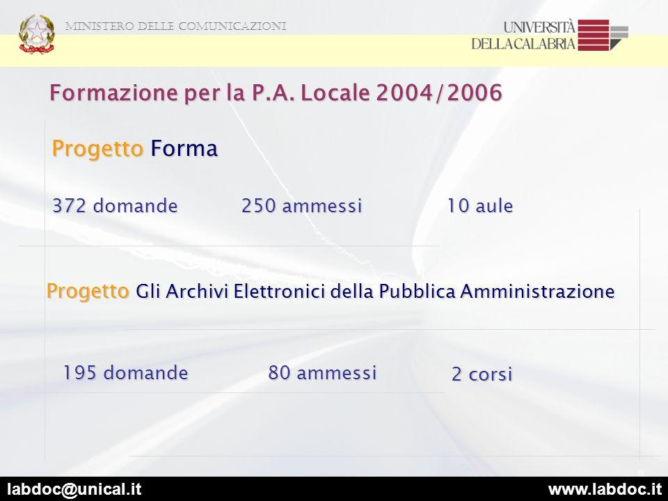 Formazione per la P.A. Locale 2004/2006