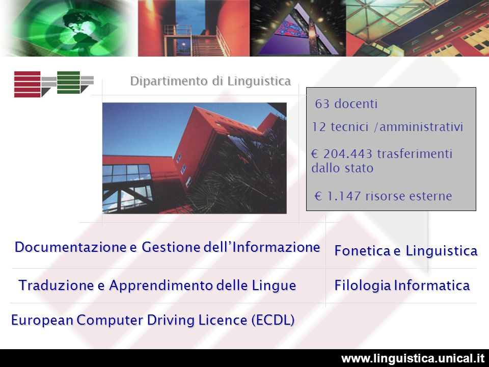 Documentazione e Gestione dell'Informazione Fonetica e Linguistica
