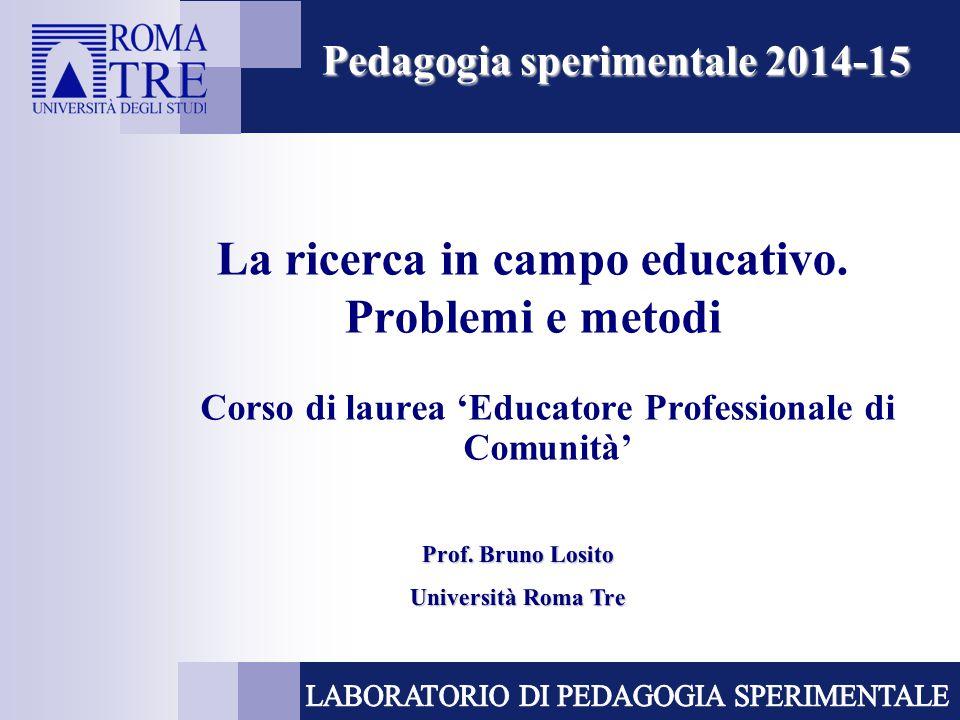 La ricerca in campo educativo. Problemi e metodi
