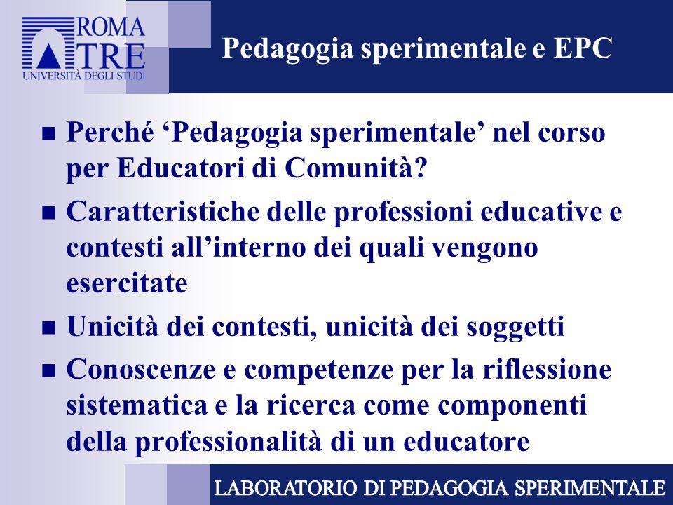 Pedagogia sperimentale e EPC