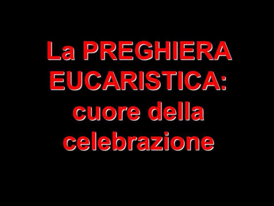 La PREGHIERA EUCARISTICA: cuore della celebrazione