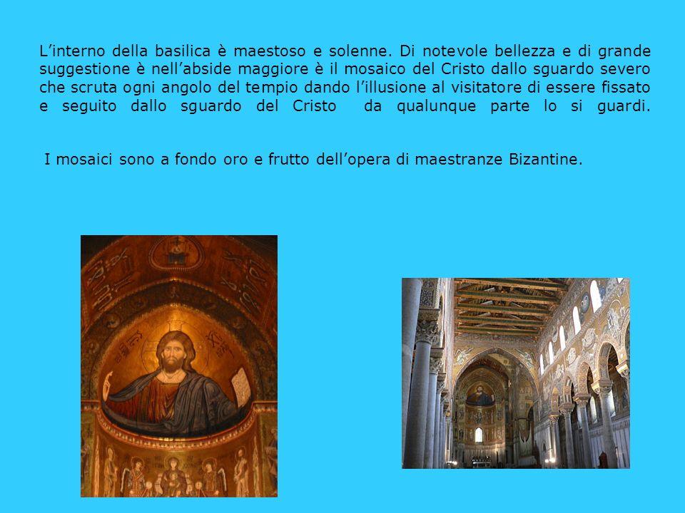 L'interno della basilica è maestoso e solenne