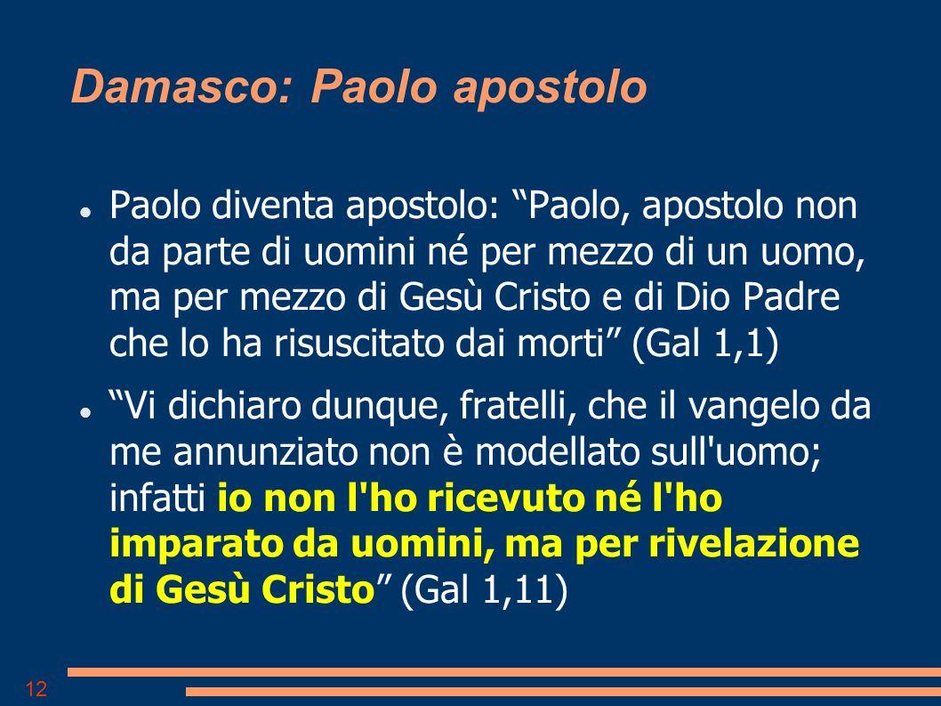 Damasco: Paolo apostolo