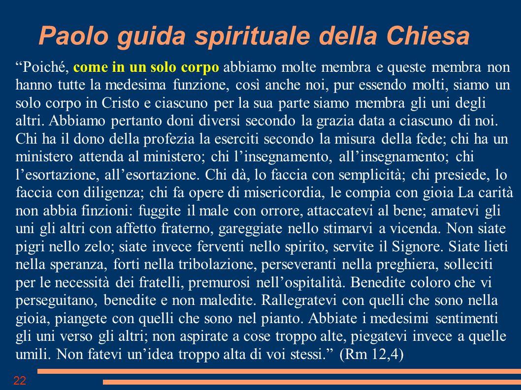 Paolo guida spirituale della Chiesa