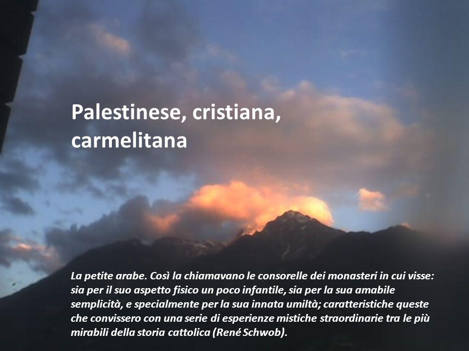 Palestinese, cristiana, carmelitana