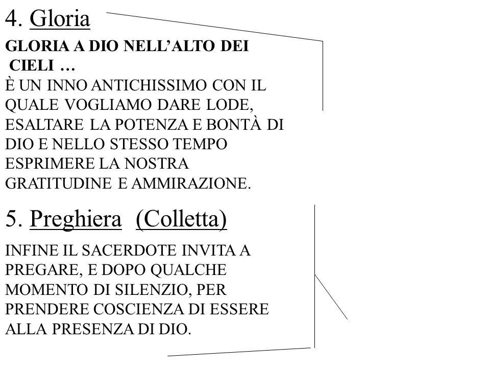 Gloria Preghiera (Colletta) GLORIA A DIO NELL'ALTO DEI CIELI …