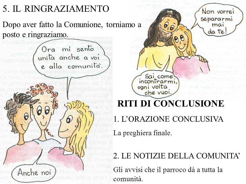 5. IL RINGRAZIAMENTO RITI DI CONCLUSIONE