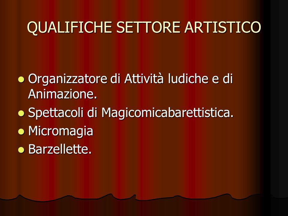 QUALIFICHE SETTORE ARTISTICO