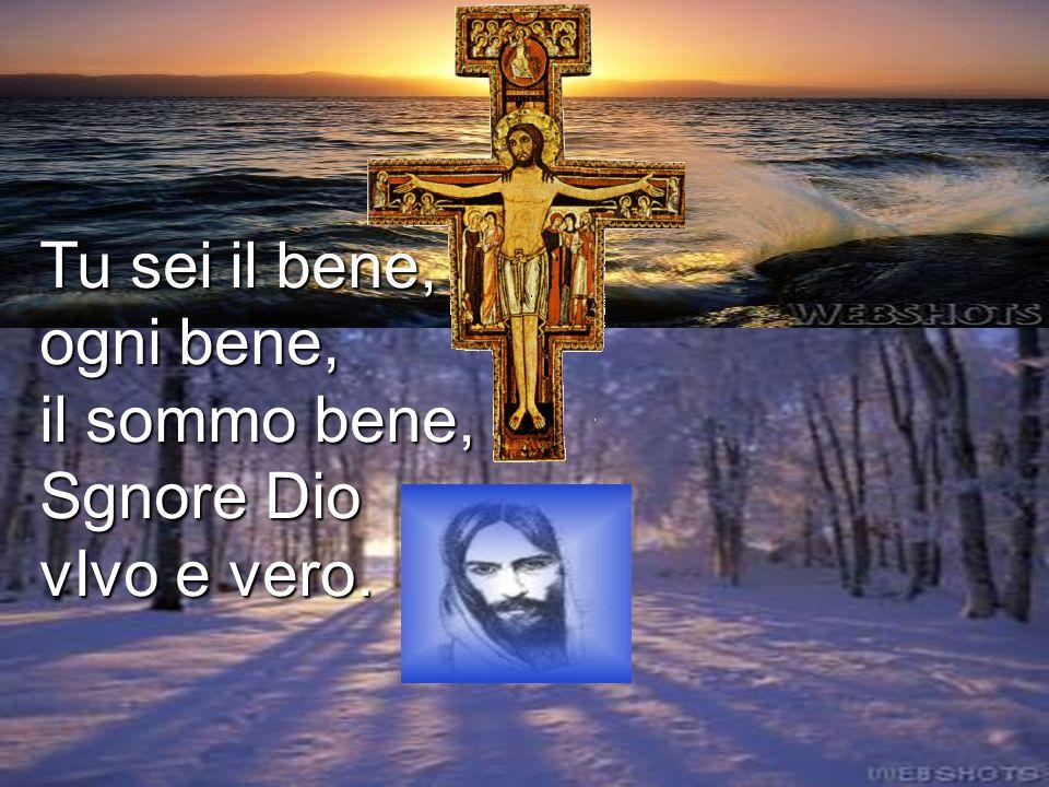 Tu sei il bene, ogni bene, il sommo bene, Sgnore Dio vIvo e vero.