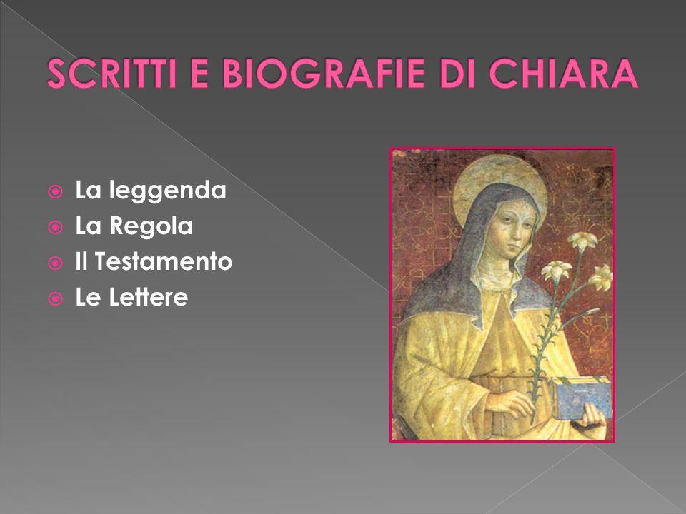 SCRITTI E BIOGRAFIE DI CHIARA