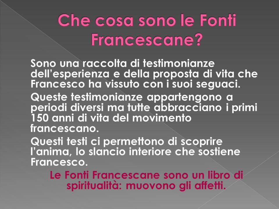 Che cosa sono le Fonti Francescane