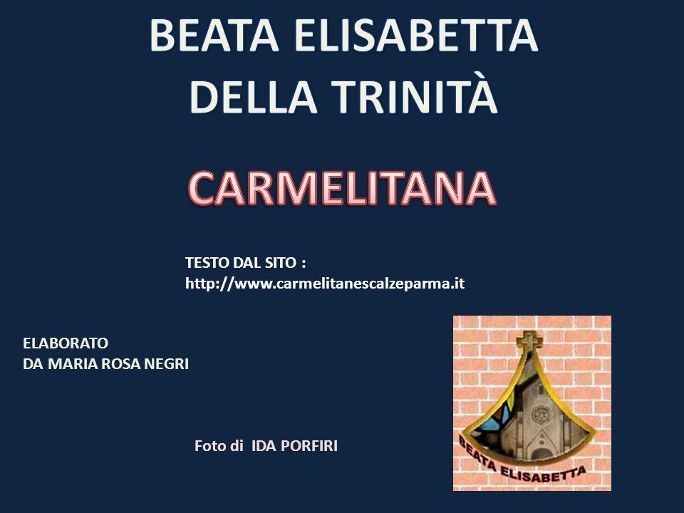 BEATA ELISABETTA DELLA TRINITÀ CARMELITANA