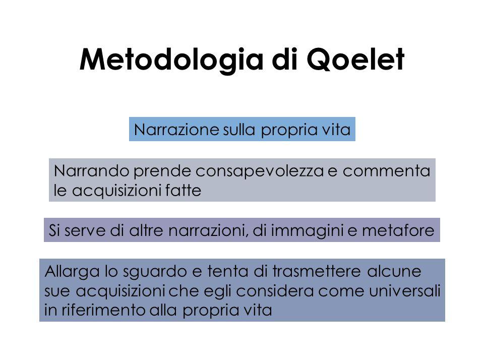 Metodologia di Qoelet Narrazione sulla propria vita
