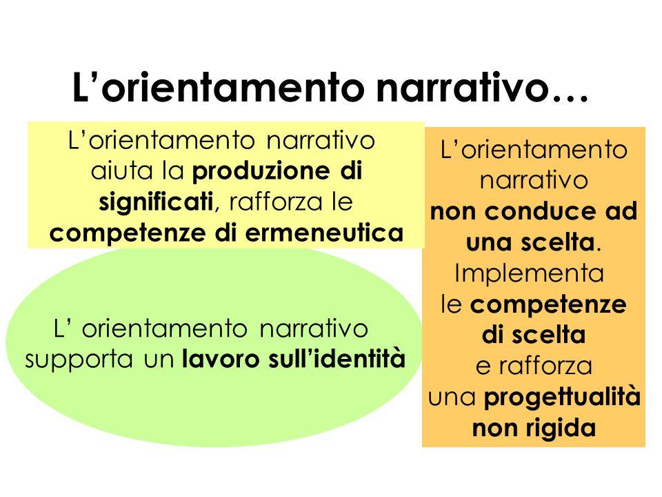L'orientamento narrativo…