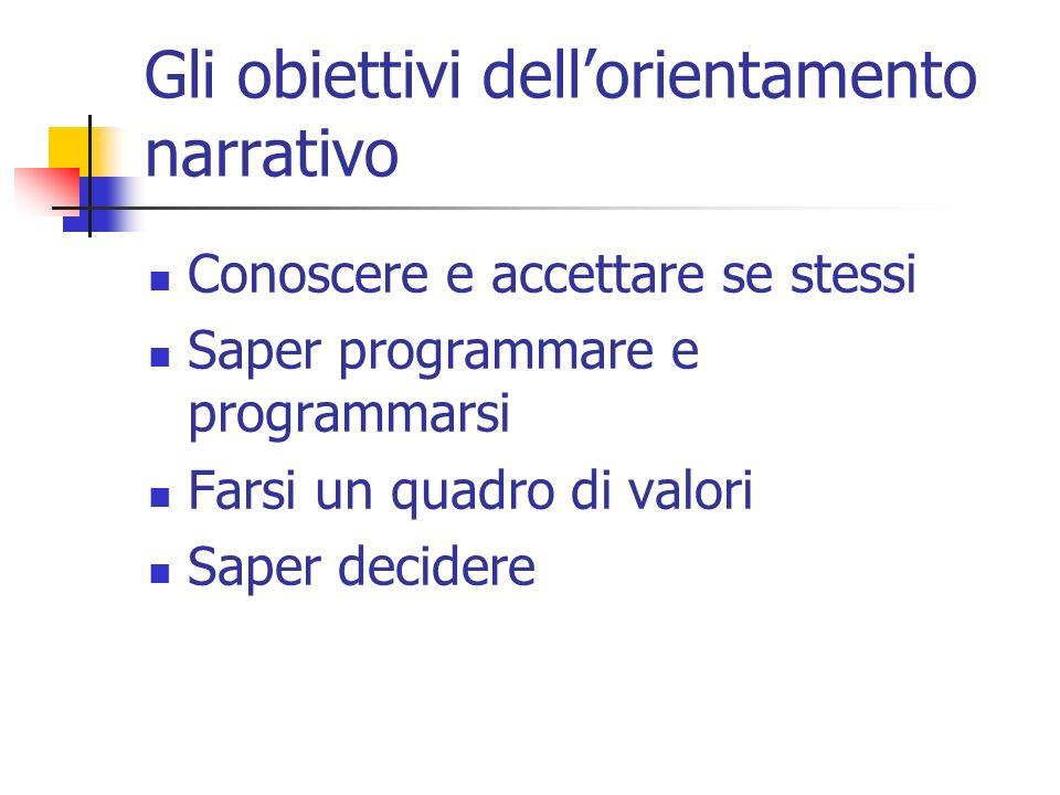 Gli obiettivi dell'orientamento narrativo