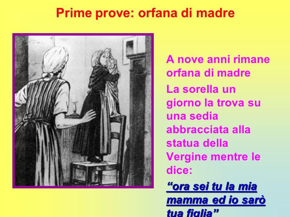 Prime prove: orfana di madre