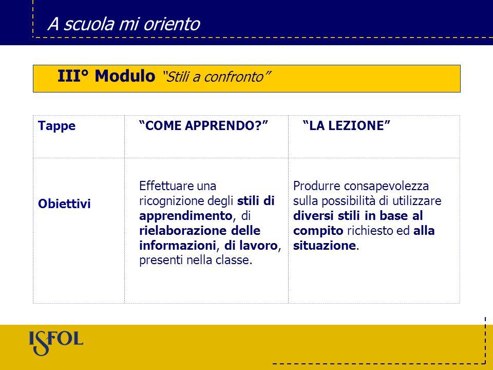 III° Modulo Stili a confronto