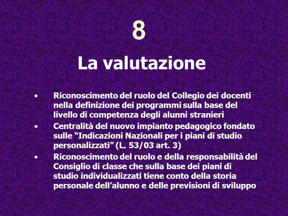 8 La valutazione.