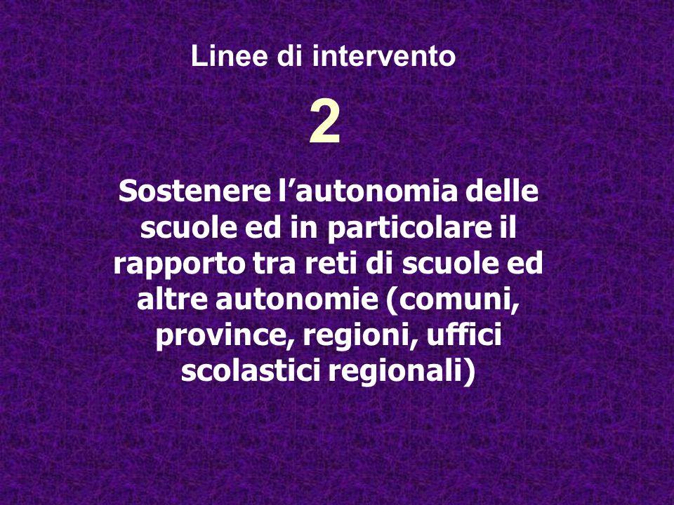 Linee di intervento 2.
