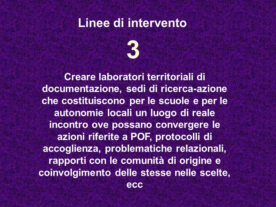 Linee di intervento 3.