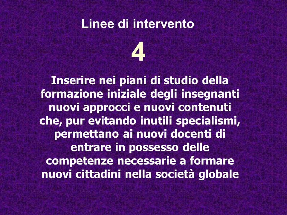 Linee di intervento 4.