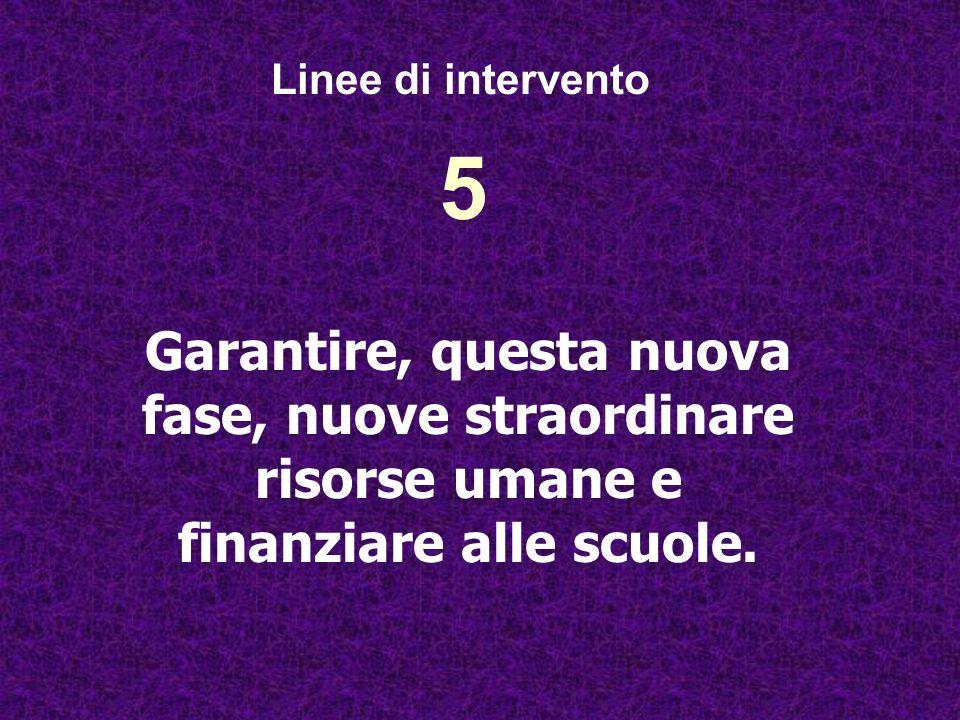 Linee di intervento 5.