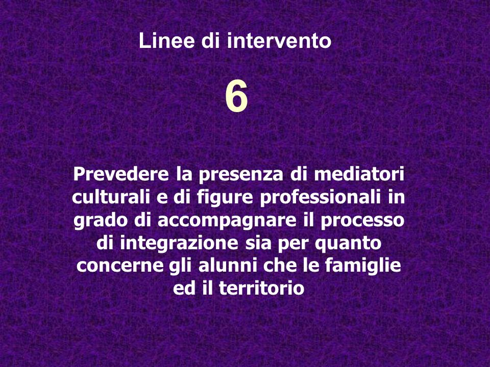 Linee di intervento 6.