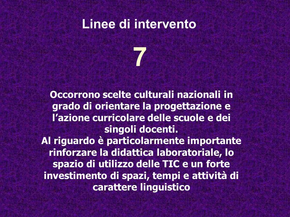 Linee di intervento 7.