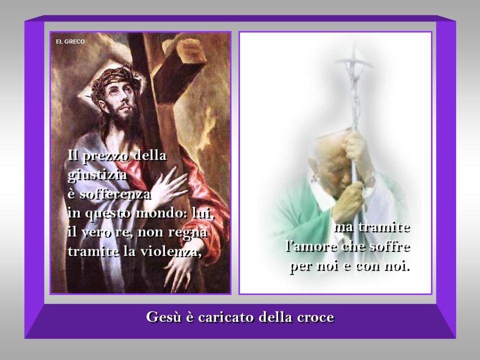 Gesù è caricato della croce
