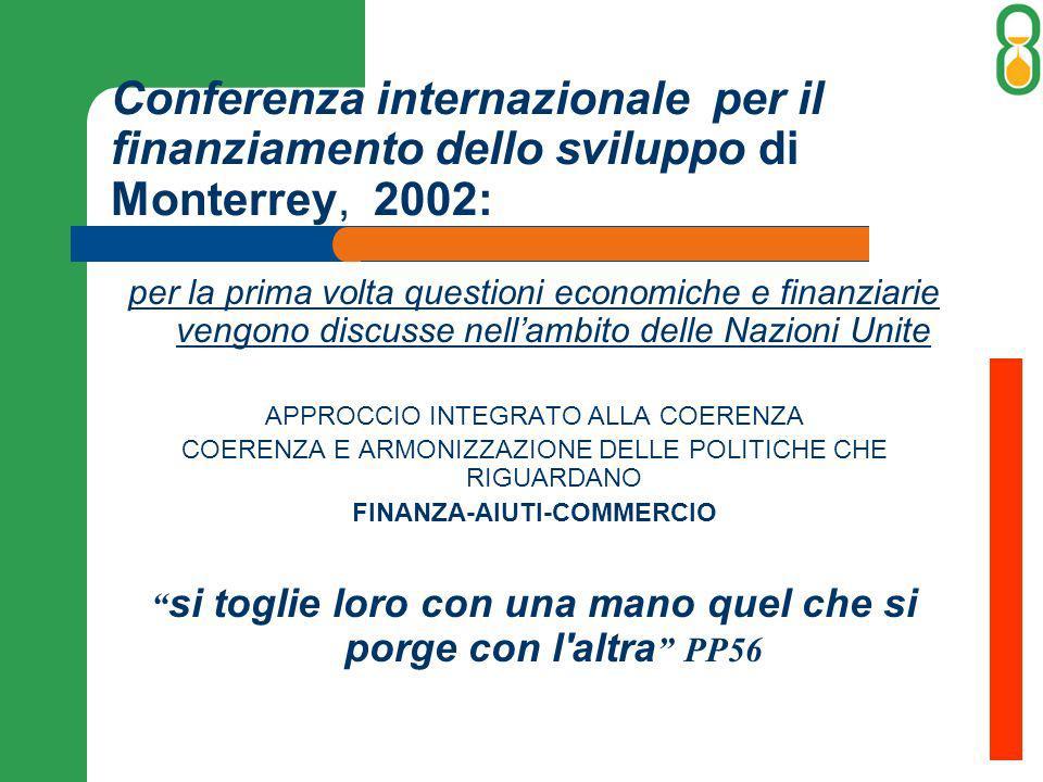 Conferenza internazionale per il finanziamento dello sviluppo di Monterrey, 2002: