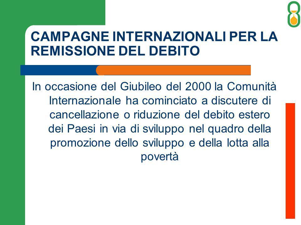 CAMPAGNE INTERNAZIONALI PER LA REMISSIONE DEL DEBITO