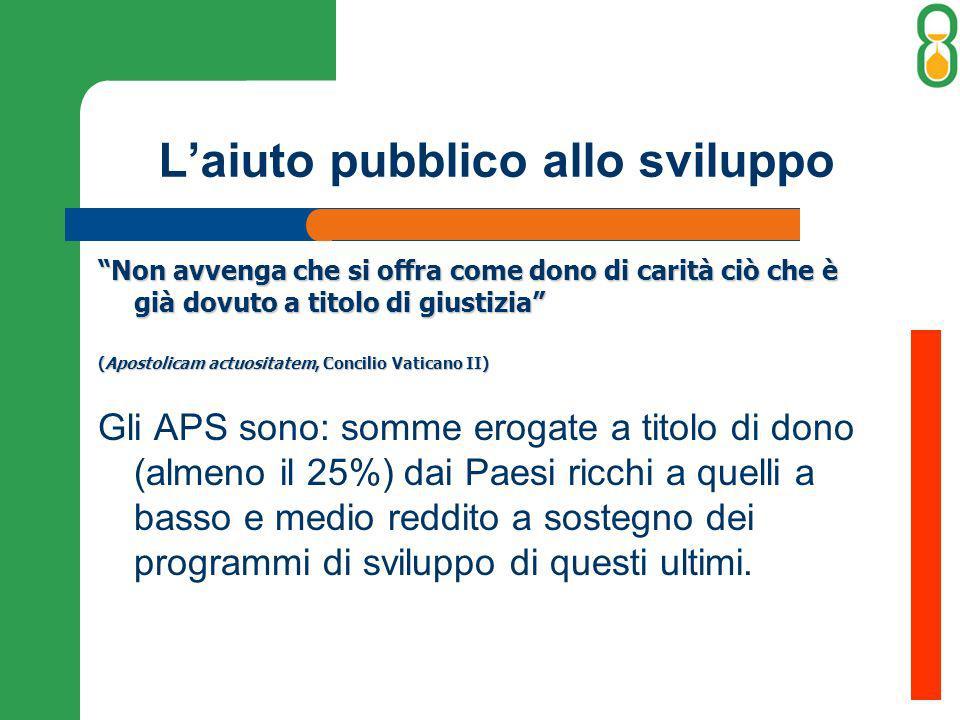 L'aiuto pubblico allo sviluppo