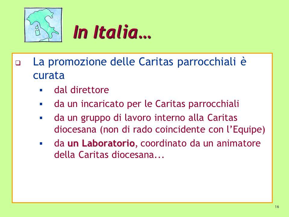 In Italia… La promozione delle Caritas parrocchiali è curata