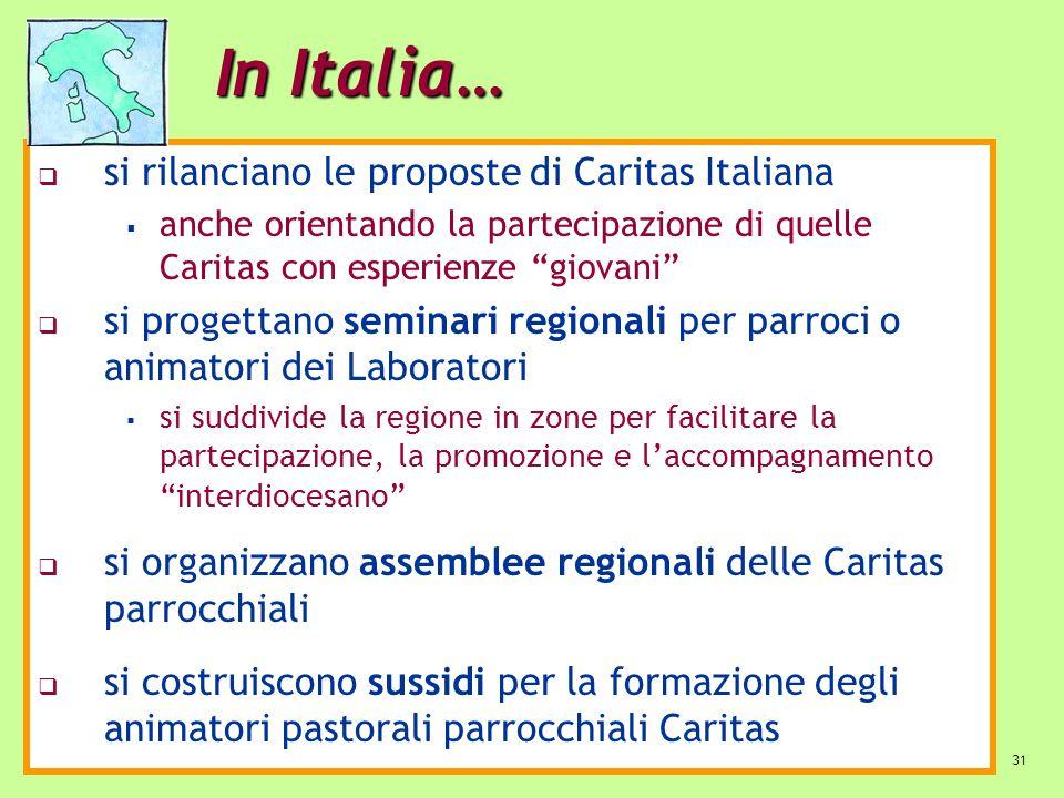 In Italia… si rilanciano le proposte di Caritas Italiana